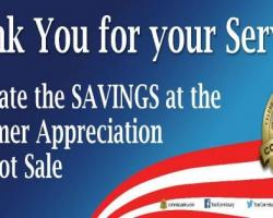 MILITARY APPRECIATION--COMMISSARY CASE LOT SALES ARE HERE FOR SPRING 2018!