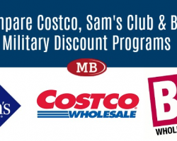 Compare Costco, Sam's Club and BJ's Wholesale Military Discount Programs