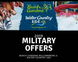 2019 Military Discounts & Deals From Busch Gardens Williamsburg & Water Country USA.....Including the $99 Military Pass!