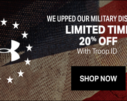 Under Armour is Celebrating the Military Community with an Increased Military Discount for Fourth of July!