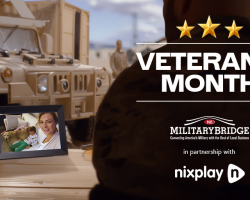 Nixplay & MilitaryBridge Partner for Giveaways & Big Savings in November In Honor of Veteran's Day and Military Family Appreciation Month!