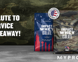 MilitaryBridge & Myprotein partner in honor of Military Family Appreciation Month & Veterans Day for a Giveaway & Big Military Discount!