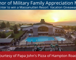In Honor of Military Families, Papa John's Pizza of Hampton Roads is Giving Away a Massanutten Resort Vacation!