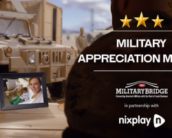 In Honor of Military Appreciation Month, Nixplay & MilitaryBridge partner for a giveaway to help military families stay connected to family