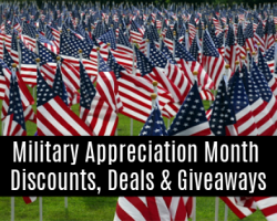 Military Appreciation Month Discounts, Deals & Giveaways 2020