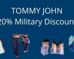 Tommy John, the leader in comfortable underwear, supports the military with a 20% military discount program.