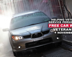 Free Car Washes for Veterans this Veterans Day through the Grace for Vets Program!